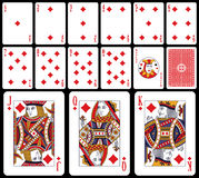 Cartões de jogo clássicos - Diams Foto de Stock Royalty Free