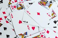 Cartões de jogo como um fundo Fotografia de Stock