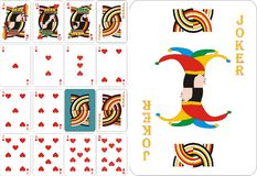 Cartões de jogo - corações ilustração stock