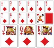 Cartões de jogo do casino - Diams Fotos de Stock Royalty Free