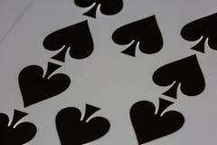 Cartões de jogo do casino do pôquer Foto de Stock Royalty Free
