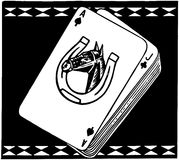 Cartões de jogo do cavalo de corrida ilustração stock