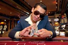 Cartões de jogo do homem Fotos de Stock Royalty Free