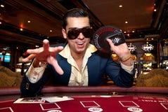 Cartões de jogo do homem Imagem de Stock Royalty Free