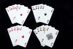 Cartões de jogo do póquer Imagens de Stock