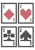 Cartões de jogo do pixel Imagem de Stock