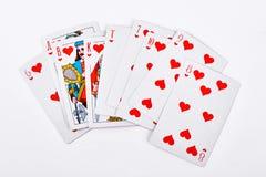 Cartões de jogo do resplendor real Fotos de Stock Royalty Free