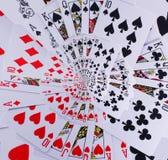 Cartões de jogo do resplendor real do pôquer da espiral de Droste Fotos de Stock