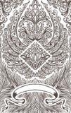 Cartões de jogo do teste padrão do ornamento da tampa do vintage Fotografia de Stock Royalty Free