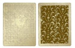 Cartões de jogo do vintage ilustração royalty free