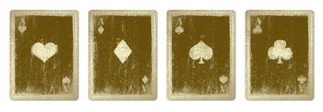 Cartões de jogo do vintage ilustração do vetor