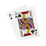Cartões de jogo do vinte-e-um imagem de stock