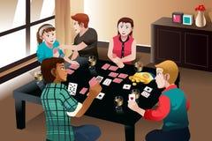 Cartões de jogo dos povos Fotos de Stock