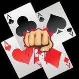 Cartões de jogo e projeto gráfico do pimn ensanguentado Imagem de Stock Royalty Free
