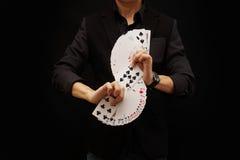 Cartões de jogo, fã de S Imagem de Stock Royalty Free