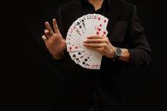 Cartões de jogo, meio fã Fotografia de Stock Royalty Free