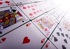 Cartões de jogo no casino Foto de Stock