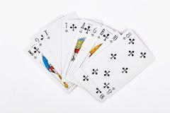 Cartões de jogo no fundo branco Fotografia de Stock