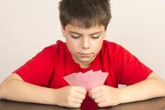 Cartões de jogo novos do menino Fotos de Stock Royalty Free