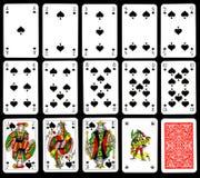 Cartões de jogo - pás Fotografia de Stock