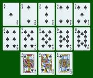 Cartões de jogo - pás foto de stock royalty free