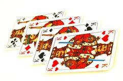 Cartões de jogo quatro reis Imagem de Stock Royalty Free