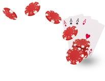 Cartões de jogo que voam no fundo branco Fotografia de Stock Royalty Free