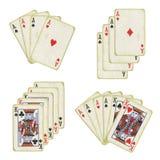 Cartões de jogo velhos Imagens de Stock