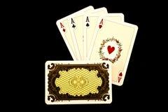Cartões de jogo velhos Imagens de Stock Royalty Free