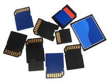 Cartões de memória Imagens de Stock Royalty Free