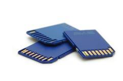 Cartões de memória imagens de stock