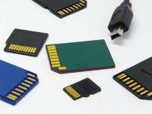 Cartões de memória Fotografia de Stock