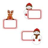 Cartões de Natal ilustração stock