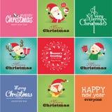 Cartões de Natal Imagens de Stock