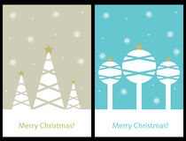 Cartões de Natal ilustração do vetor