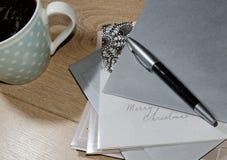 Cartões de Natal da escrita Imagens de Stock