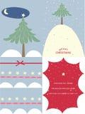 Cartões de Natal da neve Fotografia de Stock