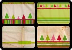 Cartões de Natal de Grunge Fotografia de Stock