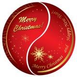 Cartões de Natal dourados e vermelhos abstratos Fotos de Stock Royalty Free