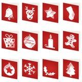 Cartões de Natal vermelhos ilustração royalty free