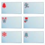 Cartões de nota do Natal ilustração stock