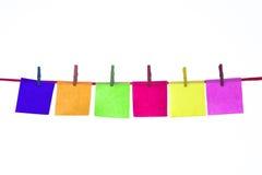 Cartões de papel coloridos Foto de Stock