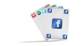 Cartões de rede sociais Imagens de Stock Royalty Free