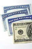 Cartões de segurança social para a identificação Fotografia de Stock