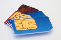 Cartões de Sim Foto de Stock Royalty Free