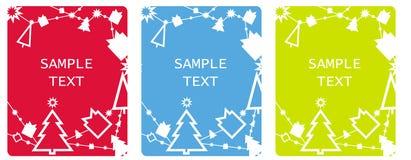 Cartões de Tag do Xmas Fotografia de Stock