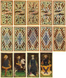 Cartões de Tarot - Arcanum Foto de Stock