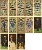 Cartões de Tarot - Arcanum Fotos de Stock Royalty Free