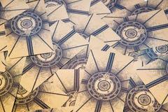 Cartões de Tarot Plataforma do tarô de Labirinth Fundo esotérico Foto de Stock Royalty Free