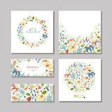 Cartões de verão Fotografia de Stock